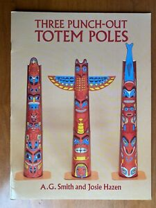 Three Punch-Out Totem Poles Indian Panorama Book, 1994 New, Dover Publication.