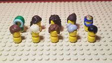 Lego Minifig Male Female Hair Hat Helmet Head Accessory Lot of 10 Pcs - Assorted