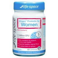 Life-Space Urogen Probiotic for Women 60 Vege Capsules with Cranberry UTI Relief