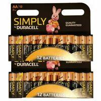 24X Duracell AA Alkaline Batteries LR06 Long Lasting MN1500