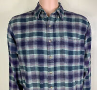 VTG 70's 80's Manhattan Men's Plaid Long Sleeve Button Up Shirt Single Needle