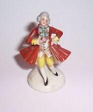 Antique Miniature Porcelaine Figurine 7 CM Grand Très Petit Jeune M. Rococo Mode