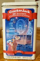 Vintage Cracker Jack Tin Box 100th Anniversary Canister 1893-1993 Collectible