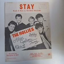 song sheet STAY , The Hollies, 1960
