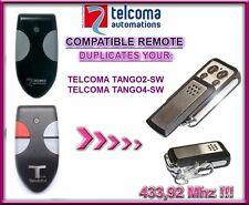 Telcoma Tango 2Sw, Telcoma Tango 4Sw compatible remote control, 433,92Mhz Clone