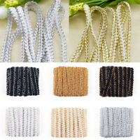5M Gold Silver Triming Centipede Braided Lace Ribbon Sew Applique Clothes Crafts