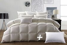 Snowman 800Fill Power Luxury Cotton White Down Comforter-King With a Pillow