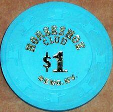 Old $1 HORSESHOE CLUB Casino Poker Chip Vintage Antique H/C Mold Reno NV 1980