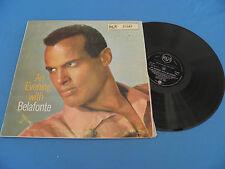 Harry Belafonte - An Evening With Belafonte RARE Original S.A RCA 1957 LP LISTEN