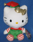 TY HELLO KITTY CHRISTMAS BEANIE BABY in HOLIDAY OUTFIT - MINT with MINT TAGS