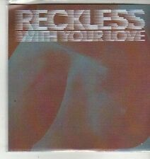 (CX185) Azari & lll, Reckless (With Your Love) - 2012 DJ CD