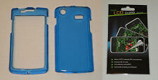 Blue Hard Plastic Case & Screen Protector For Samsung Captivate i897