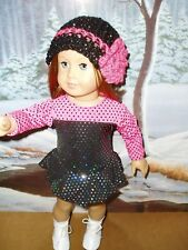 """2pc Ice Skating Outfit fits American Girl Dolls 18"""" Doll Clothes Handmade"""