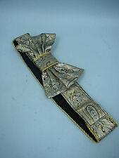 Ginnie Johansen Silver Brocade Bow Belt
