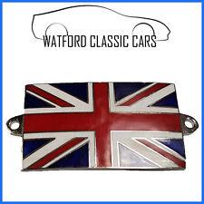 Enamel Union Jack Badge,MG,Jaguar,Ford,Morris,Hillman,Mini,Triumph,Austin,