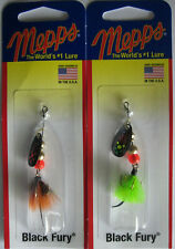 2 - Mepps  Black Fury Spinner - 1/12 oz.- Two Popular Colors!