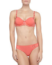 Simone Perele ANDORA Coral Gold 131343 3D Molded T-Shirt Bra 40D  131700 Thong L
