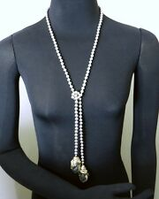 Electroform Sterling Silver & Gold Plate Lariat Necklace