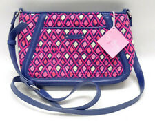 Vera Bradley Trimmed Trapeze Crossbody Purse Katalina Pink Diamonds