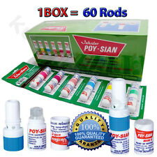 1BOX WHOELSALE POY SIAN NASAL SMELL DIZZINESS INHALER BRACING BREEZY ASTHMA