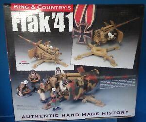 king & country BBG035 54mm ww2 German Flak'1 88MM gun 1 figure 2010  mib oop