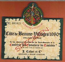Etiquette-Vin De Bourgogne -Côte De Beaune Villages -1980 - Specimen -.N°208