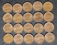 1921 British India 1/12 Anna, Bulk Lot of 20 Coins, Red/Brown UNC, #1