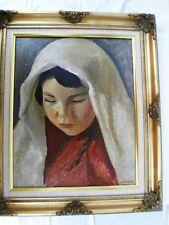 """BERTHOMME ST-ANDRE Louis (1905-1977) HSToile """"Jeune fille d'Alger"""" circa 1925"""