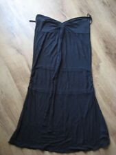 Ladies Full Circle Black Strapless Casual Midi Dress, Size 10