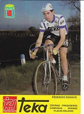 CYCLISME carte cycliste FEDERICO ECHAVE équipe TEKA 1981