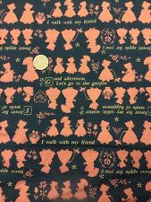 100% Cotton Quilting Craft Fabric Lecien Japan Holly Hobbie Black Brown