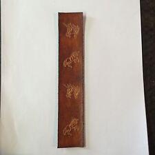Handmade Leather Bookmark With Unicorns