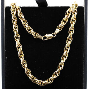 Heavy 9ct Gold Fancy Link Chain Necklace 20.3' Long