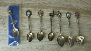 7x Sammler Löffel davon 5x 800er Silber, 1x Alpacca versilbert 1x Italy VP23-3