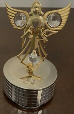 Angel Music Box By Mascot.24K Gold Plated. Made w/Austrian Crystal. 'Love Story'