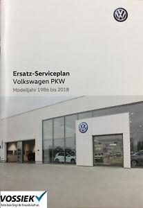 Original Volkswagen VW Ersatz Serviceplan Serviceheft Mj. 1986-2018