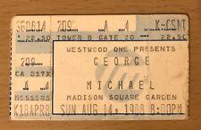 1988 GEORGE MICHAEL THE FAITH TOUR NEW YORK CITY MSG CONCERT TICKET STUB WHAM!