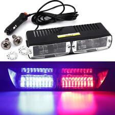 Car 16 LED Red/Blue Police Strobe Flash Light Dash Emergency Flashing Light LR