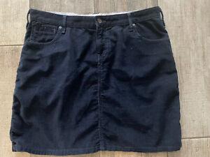 White Stuff Navy Cord Knee Length Skirt size 14
