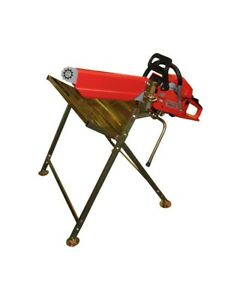 Log Saw Horse Holder Folding Metal With Pivoting Pivot Chainsaw Clamp DX/1000289