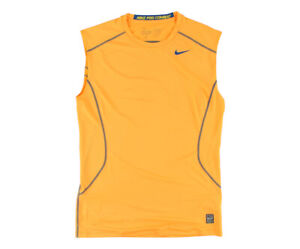 Nike Running Sleeve Less Mens Active Shirts & Tees Size M, Color: Soft Orange
