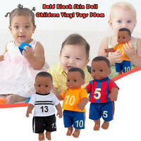 Black African Black Baby Cute Bald Black 30CM Vinyl Baby Toy