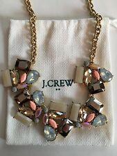 NWT J Crew Women's Deco Stone Statement Necklace Neutral Wildflower $54.50
