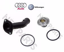 For Audi TT VW Golf Engine Coolant Thermostat with Housing Cover & O-ring OES
