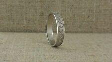 Sterling Silver Irish Celtic Spiral Wedding Ring Made in Ireland BORU 9.5 or 10