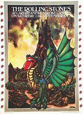 Vintage 1973 Rolling Stones Cardiff and Pembroke Castle Concert Poster  A3 Print