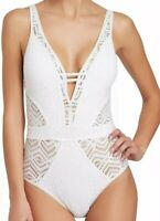NWT Becca by Rebecca Virtue Women's One-Piece Swimwear White Size XL