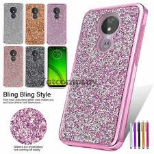 For Motorola Moto G7 Play/G7 Optimo Case Glitter Bling Hard&Soft TPU Phone Cover