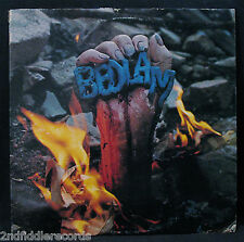 BEDLAM-THE BEAST-Rarer 70's Rock Album-COZY POWELL-CHRYSALIS-Sterling Stamp