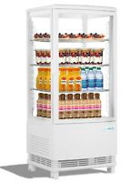 Countertop Refrigerator Merchandiser Display Case with LED lighting - 3 cu. ft